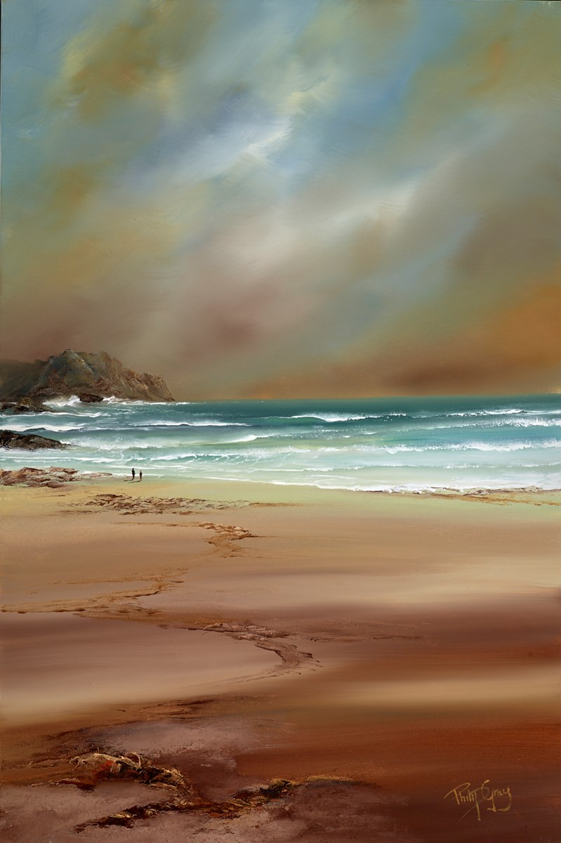 A Walk Along the Shore VI by philip gray -  sized 24x36 inches. Available from Whitewall Galleries